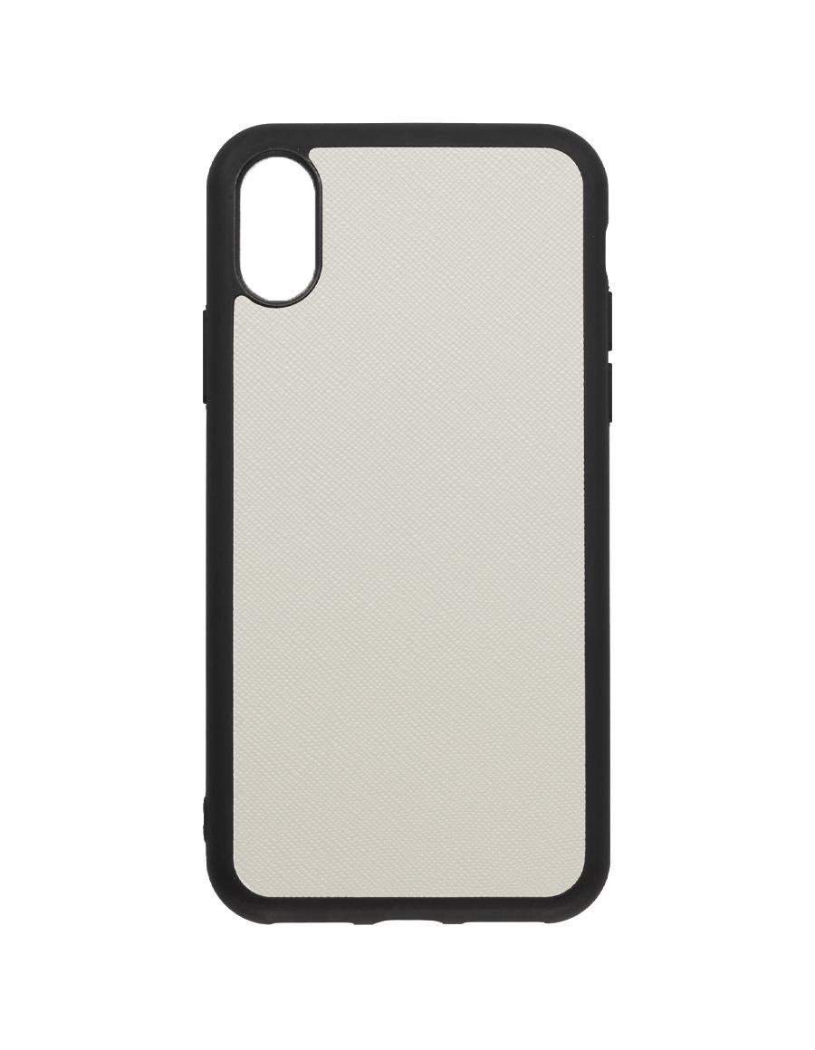 Linen White Saffiano Vegan iPhone X/XS Case