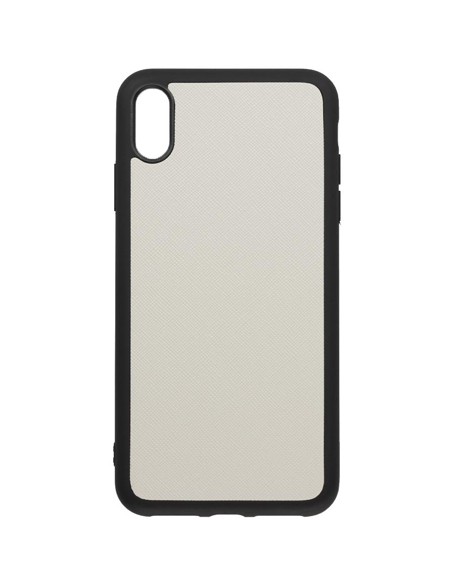 Linen White Saffiano Vegan iPhone XS Max Case