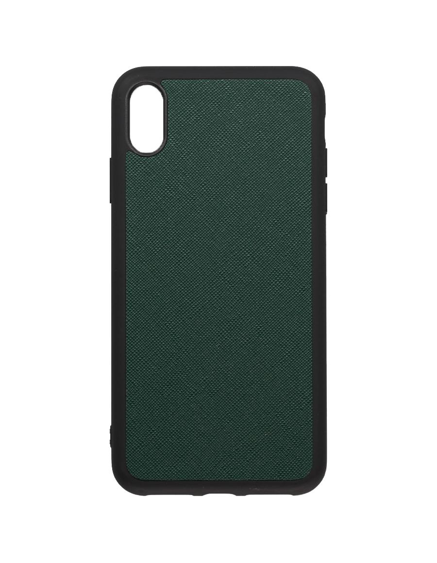 Timber Green Saffiano Vegan iPhone XS Max Case