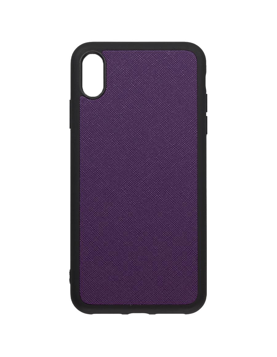 Indigo Purple Saffiano Vegan iPhone XS Max Case