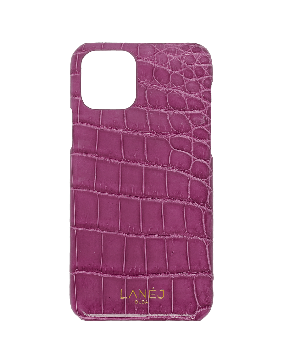 Imperial Purple Croc iPhone 11 Pro