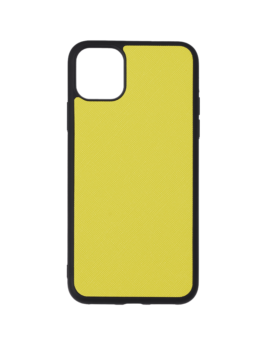 Lemon Saffiano Vegan iPhone 11 Pro Max Case