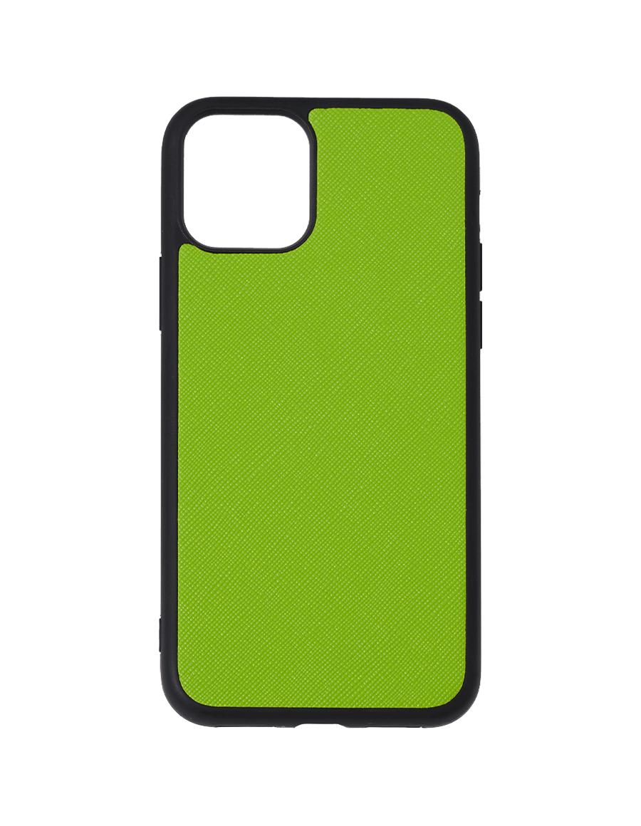 Lime Green Saffiano Vegan iPhone 11 Pro Case