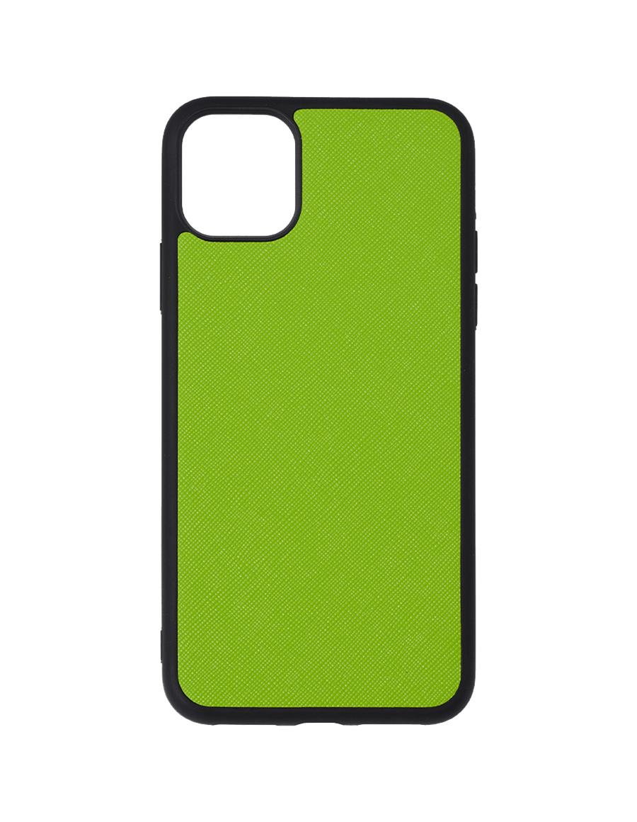 Lime Green Saffiano Vegan iPhone 12 Pro Max Case