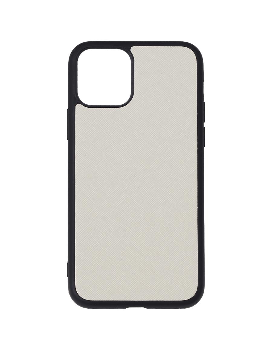 Linen White Saffiano Vegan iPhone 11 Pro Case