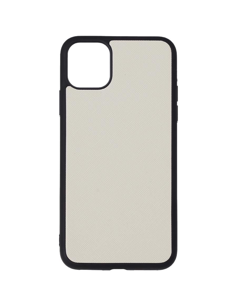 Linen White Saffiano Vegan iPhone 11 Pro Max Case