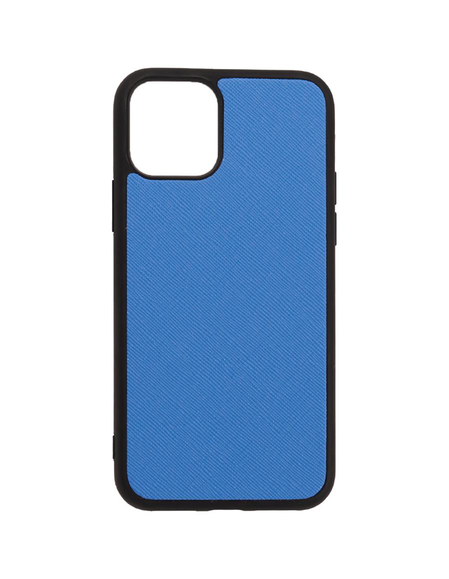 Marine Blue Saffiano Vegan iPhone 11 Pro Case