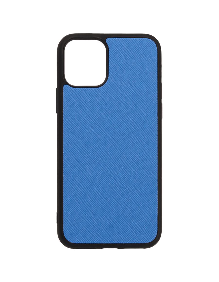 Marine Blue Saffiano Vegan iPhone 12 Pro Max Case