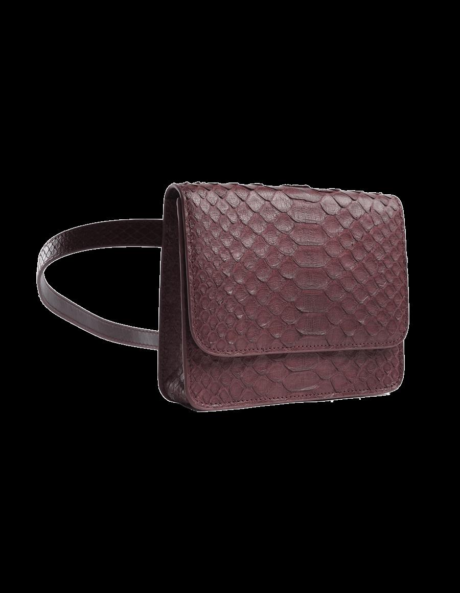 Maroon Python Bella Belt Bag