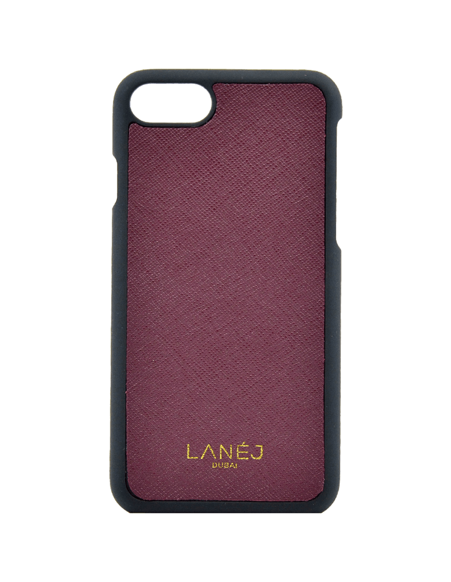 Maroon Saffiano Iphone 7/8