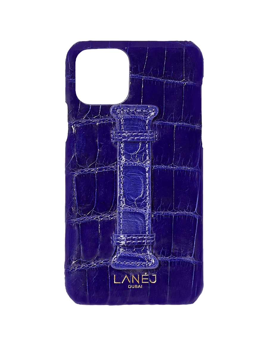 Midnight Blue Croc Iphone 11 Pro With Holder