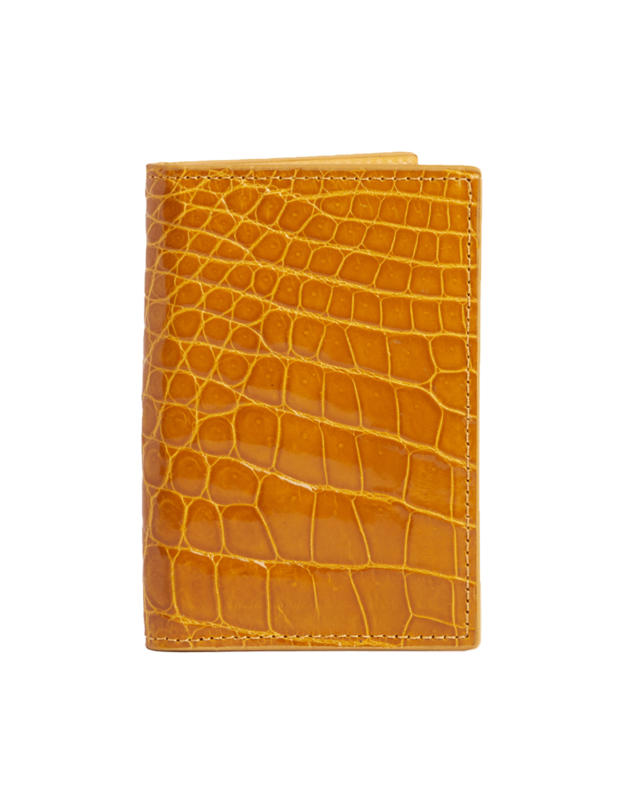 Mustard Crocodile Bi-Fold Card Holder