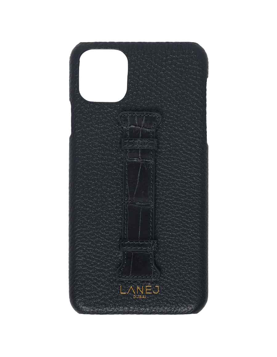 Navy Togo iPhone 11 Pro Max With Croc Holder