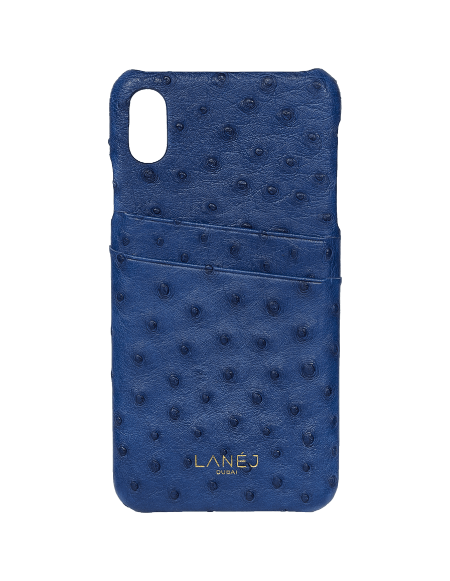 Navy Ostrich Iphone X/XS With Card Slots