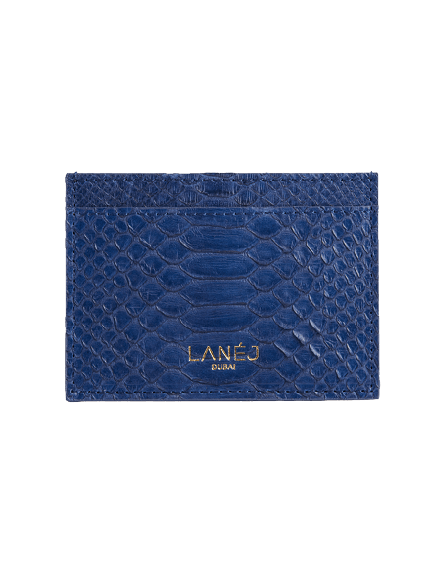 Navy Python Signature Card Holder