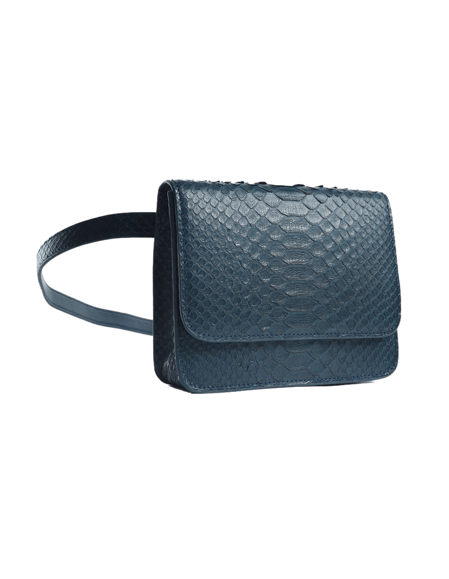Navy Python Bella Belt Bag