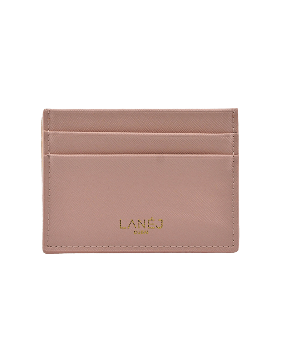 Nude Saffiano Signature Card Holder
