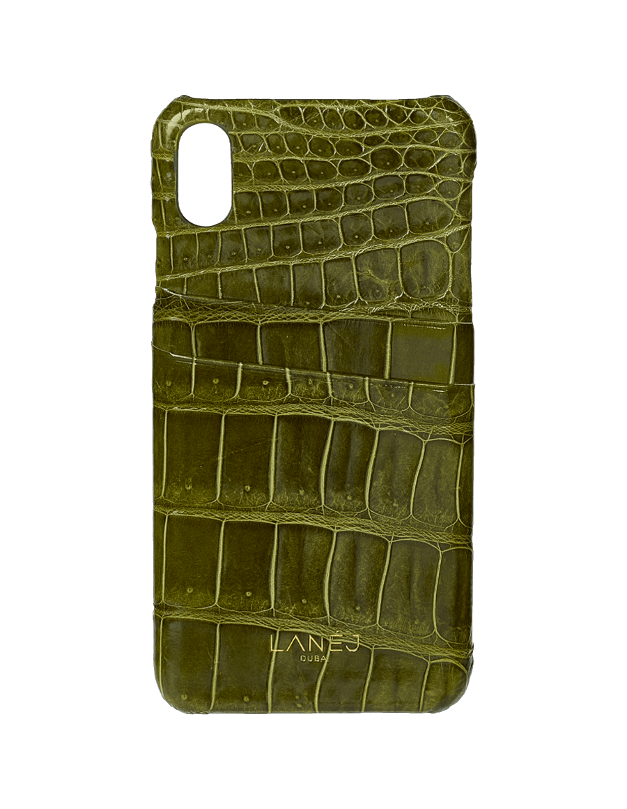 Olive Croc Iphone X/XS With Card Slots