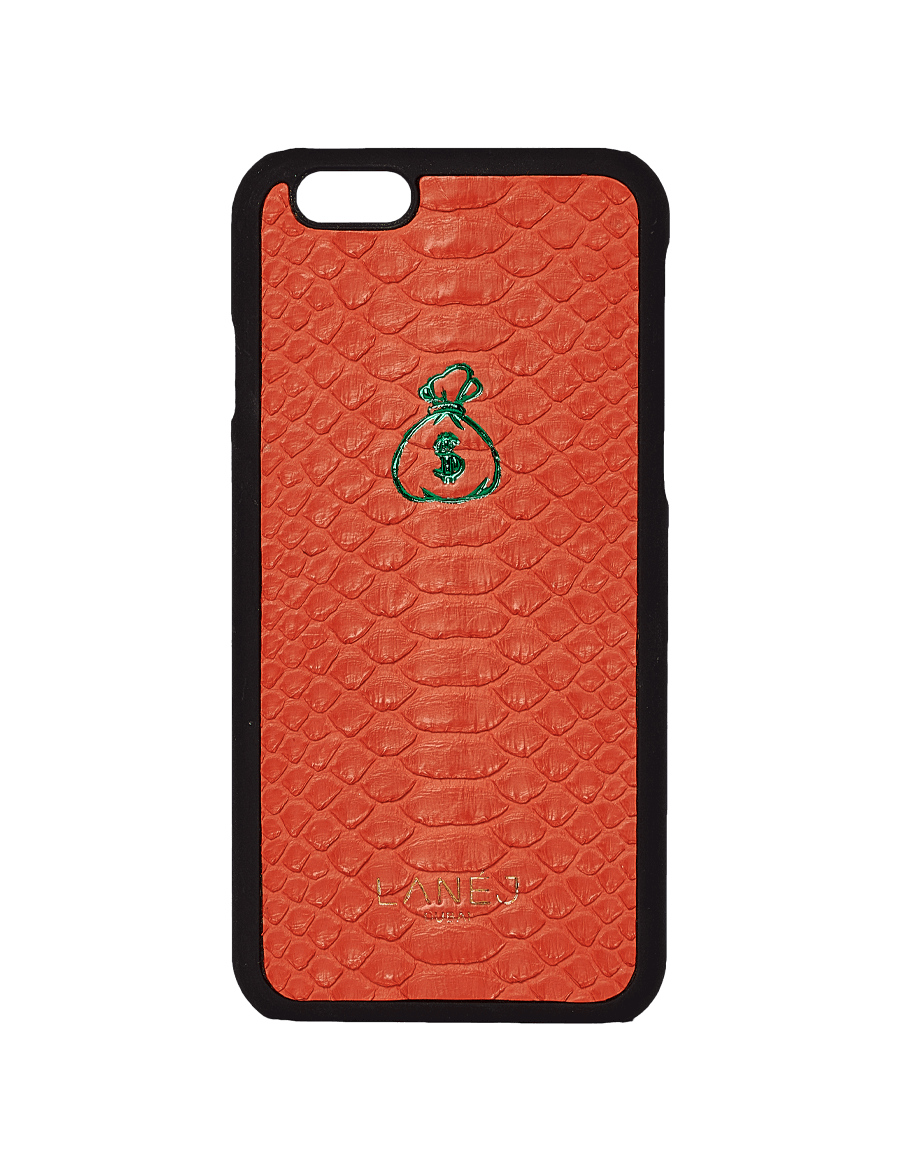 Orange Python Iphone 6 With Money Bag Emoji
