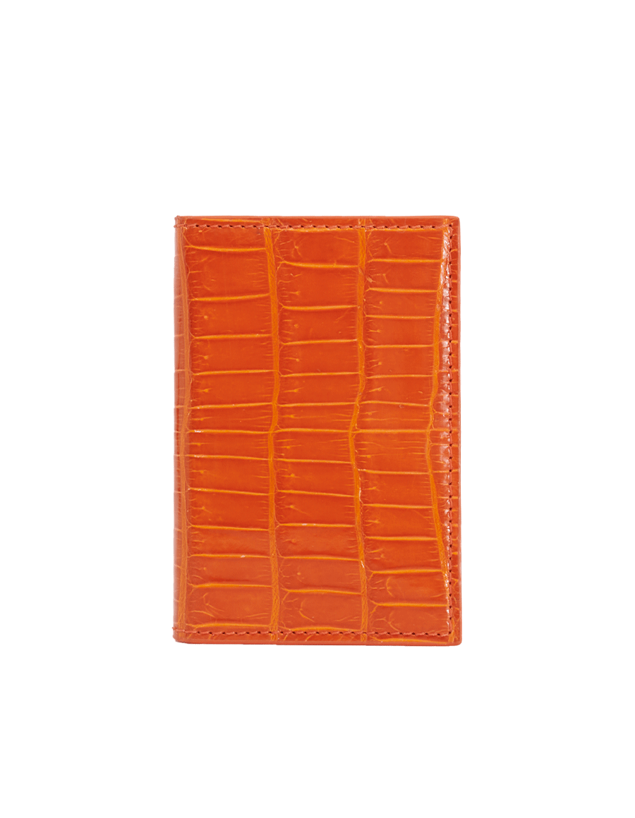 Orange Tiger Crocodile Bi-Fold Holder