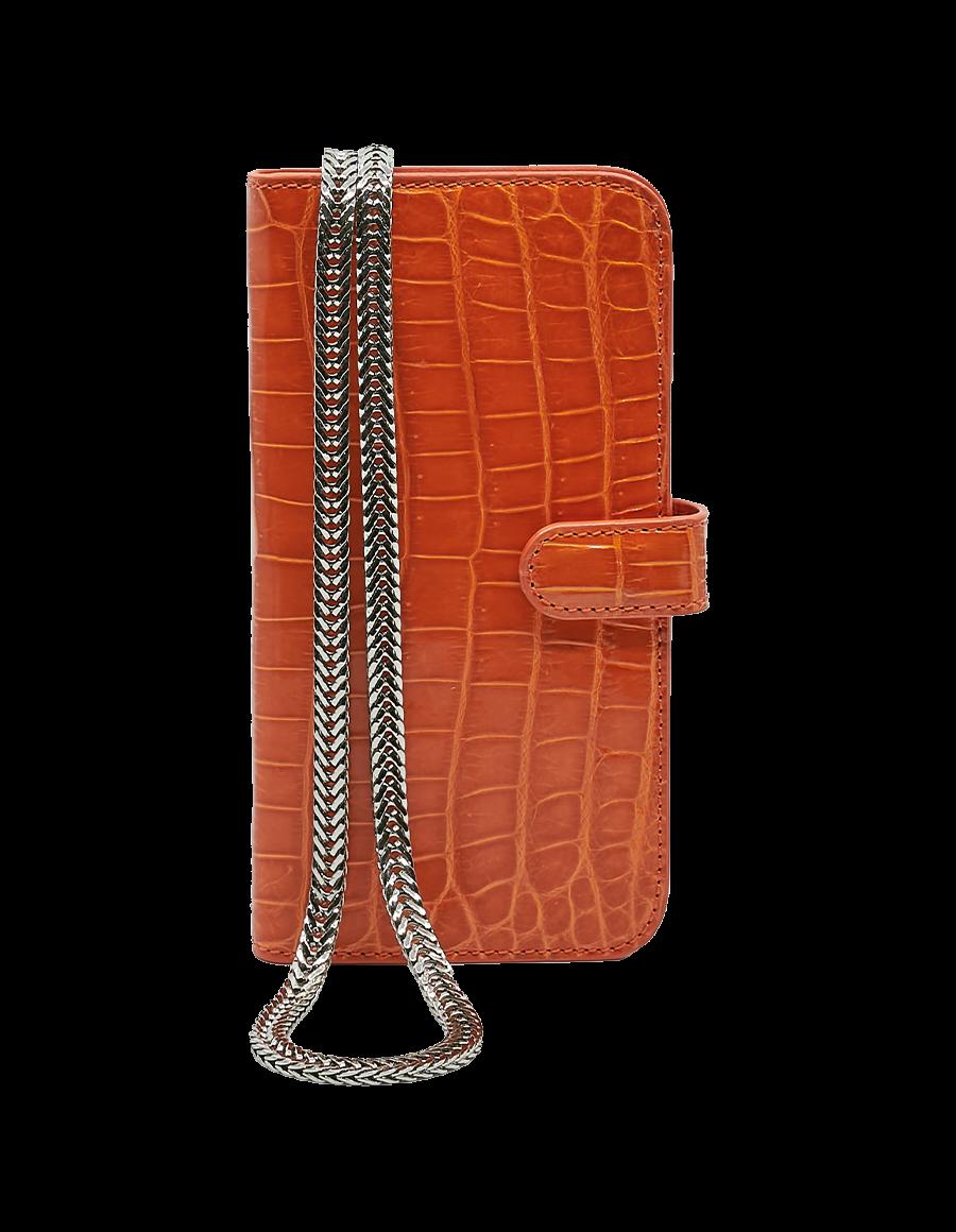 Orange Tiger Crocodile iPhone 12 Pro Max Crossbody case