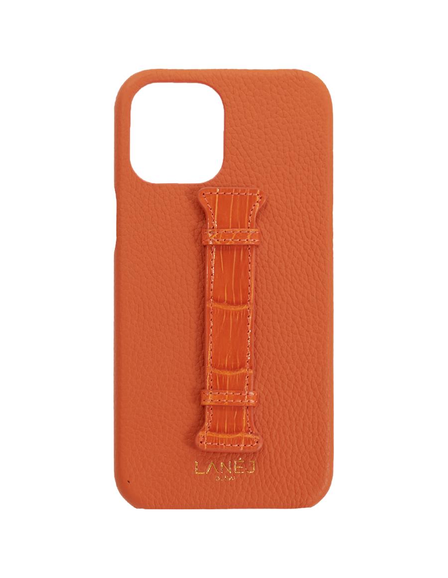 Orange Tiger Crocodile iPhone 12 Pro Max Case with Croc Holder