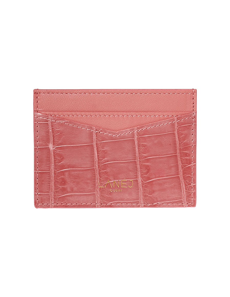 Orchid Crocodile Signature Card Holder
