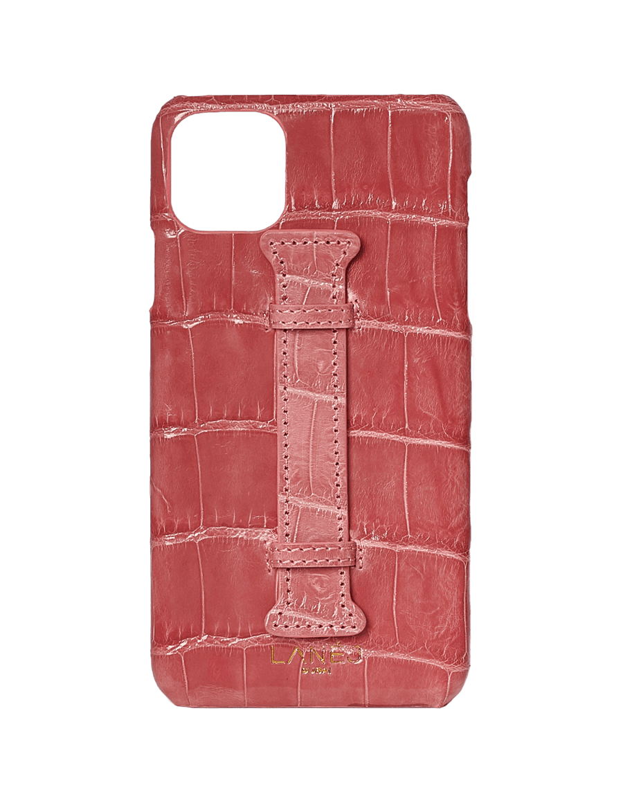Orchid Pink Croc Iphone 11 Pro Max With Holder