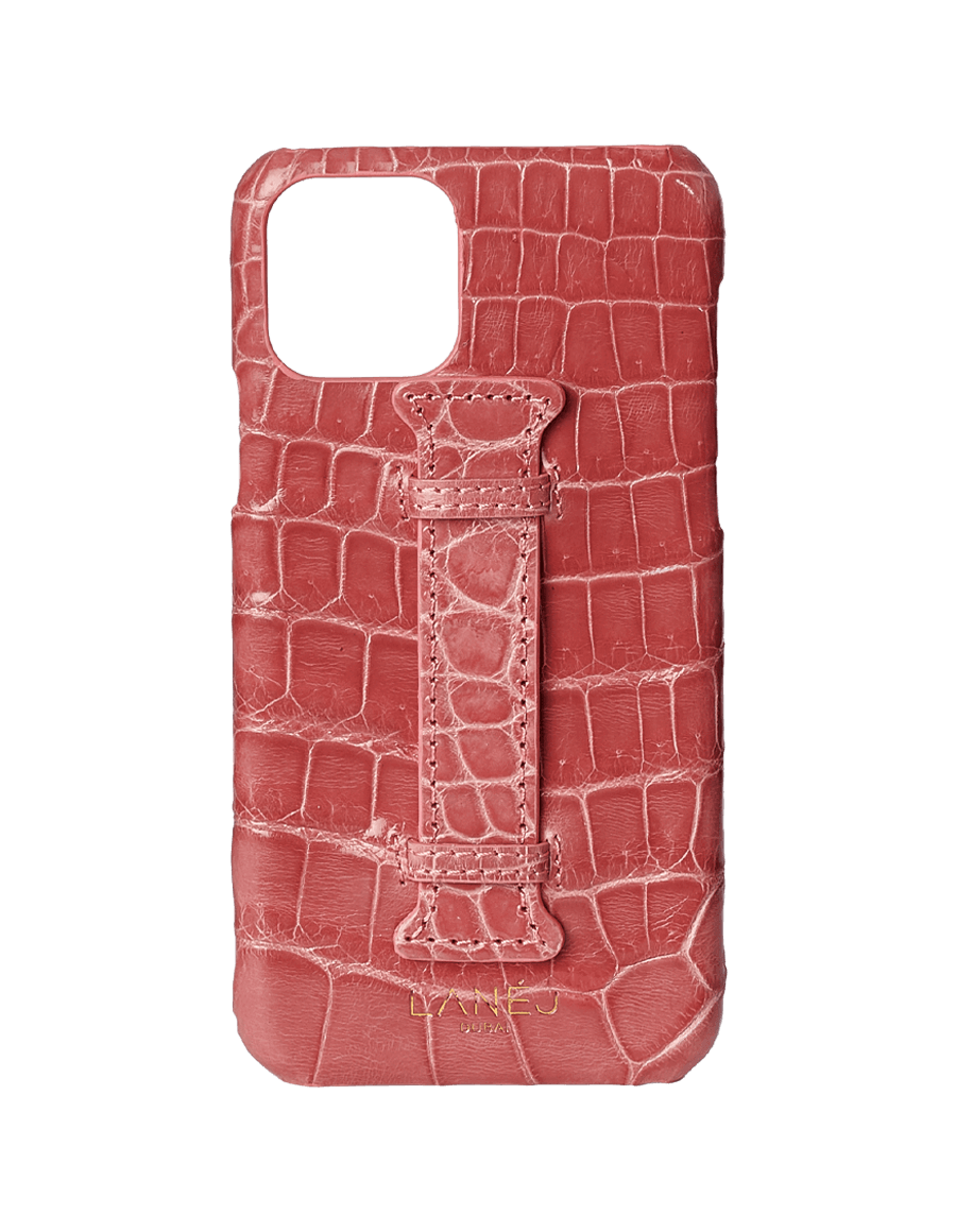 Orchid Pink Croc Iphone 11 Pro With Holder