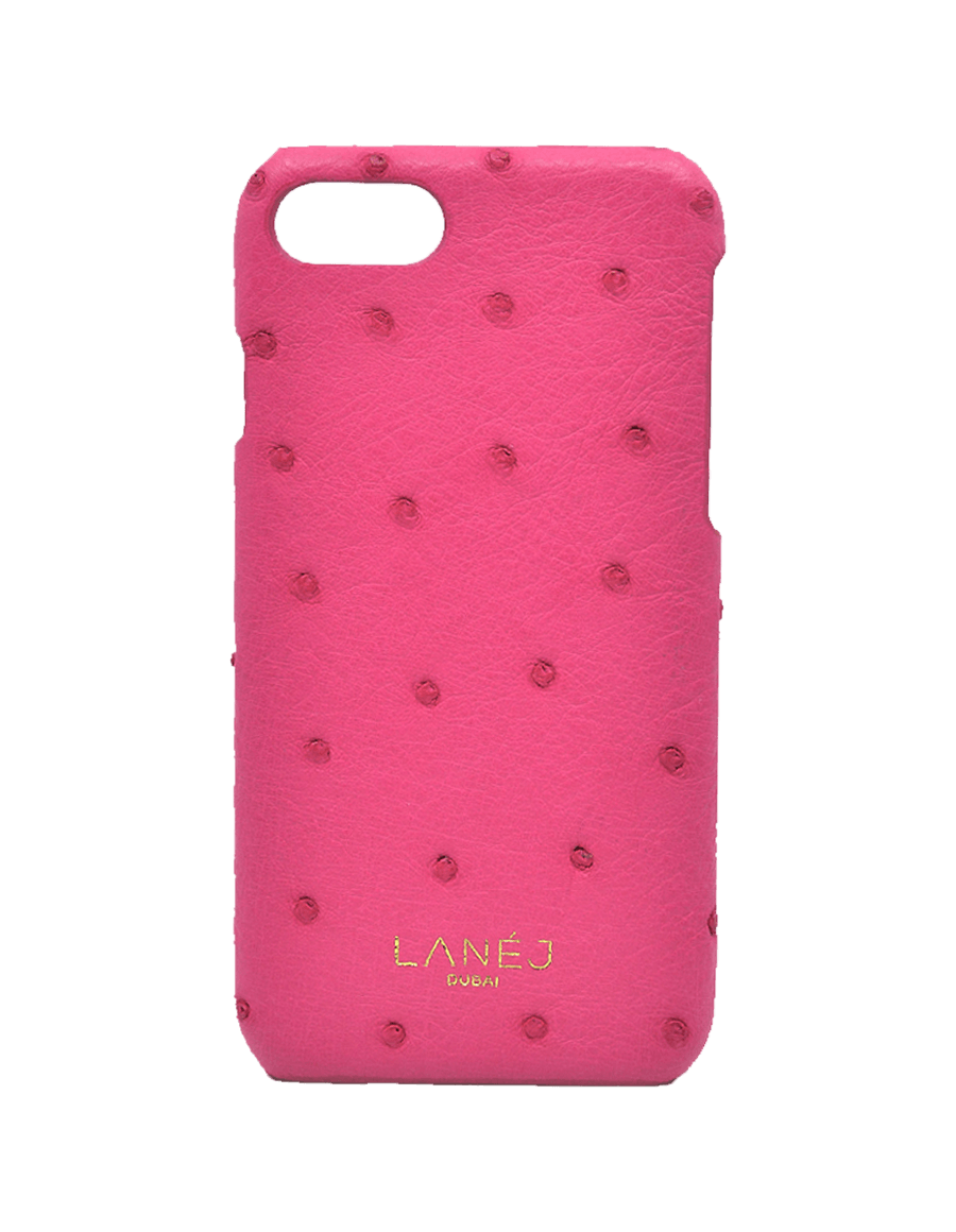 Hot Pink Ostrich Iphone 7/8