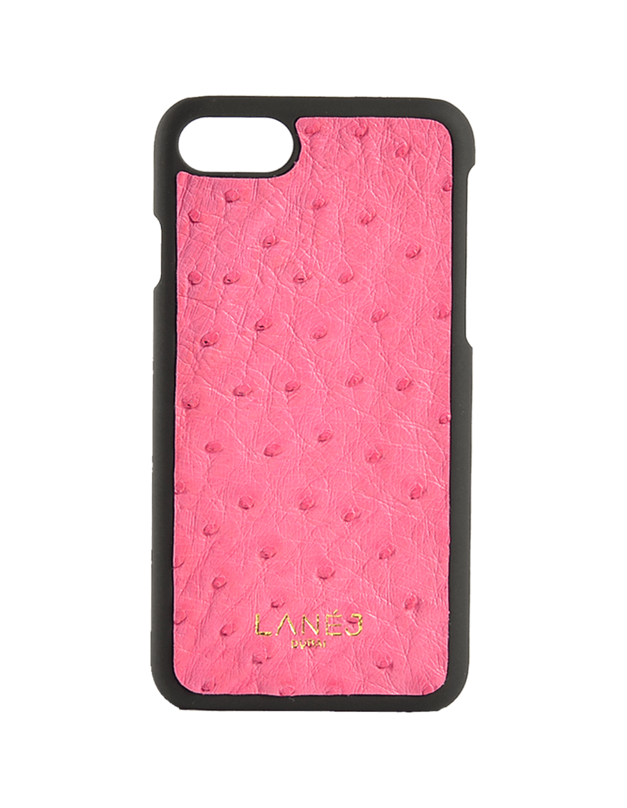 Pink Ostrich Iphone 7/8 With Border