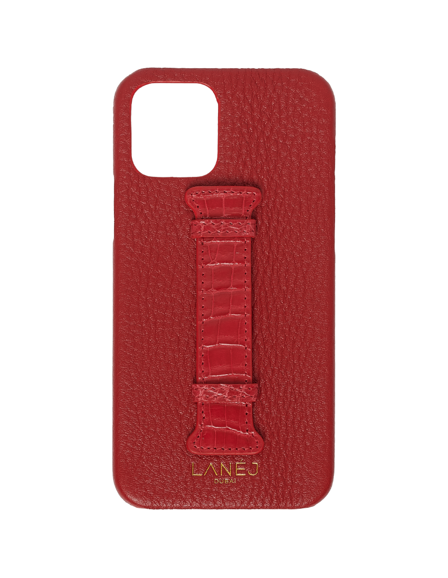 Red Togo iPhone 12 / 12 Pro with Croc Holder
