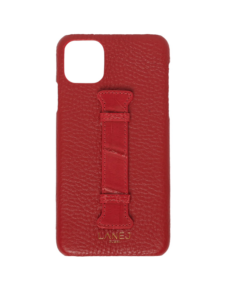 Red Togo iPhone 11 Pro Max With Croc Holder