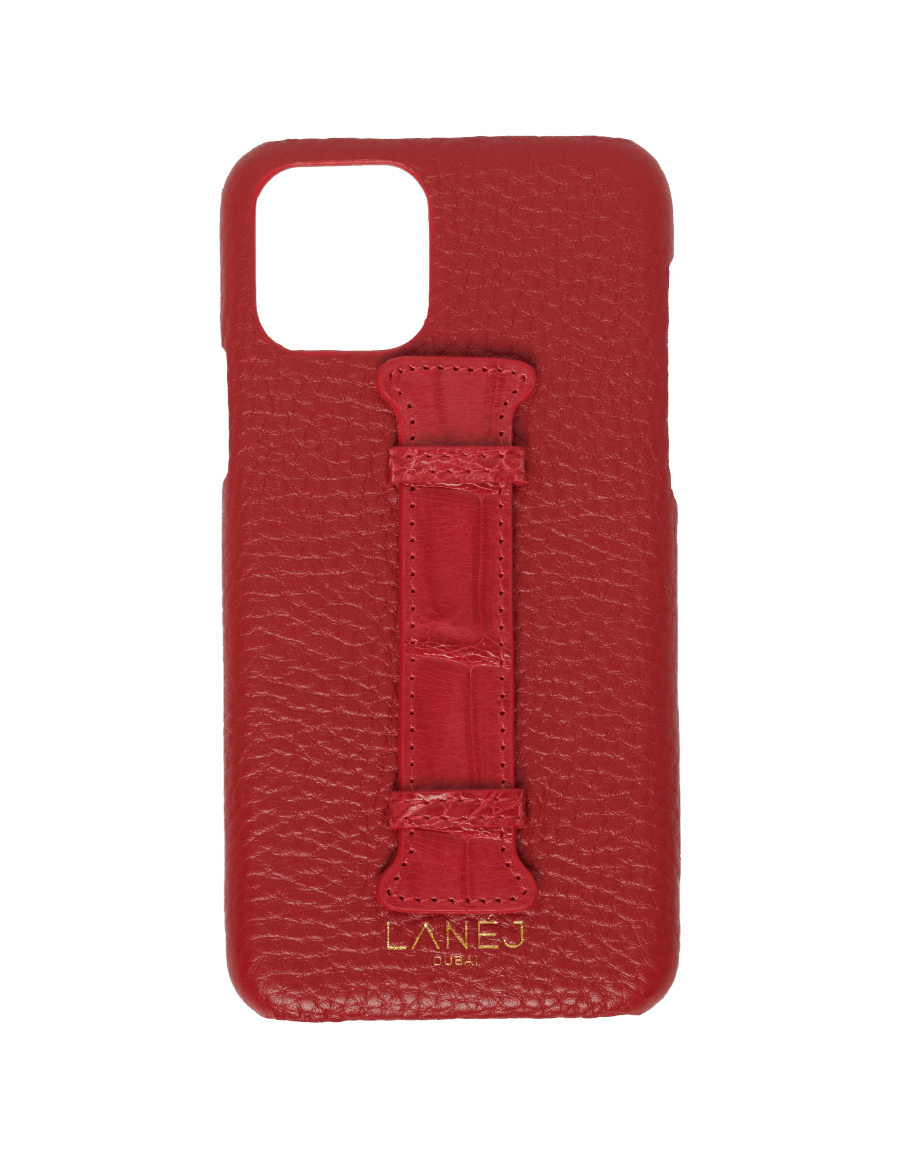 Red Togo iPhone 11 Pro With Croc Holder