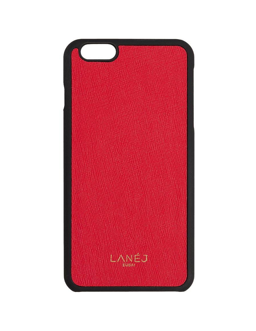 Red Saffiano Iphone 6+/6S+