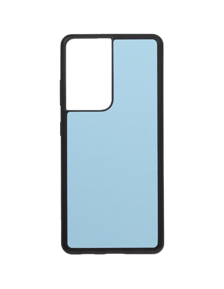 Frost Blue Saffiano Vegan Samsung S21 Ultra Case