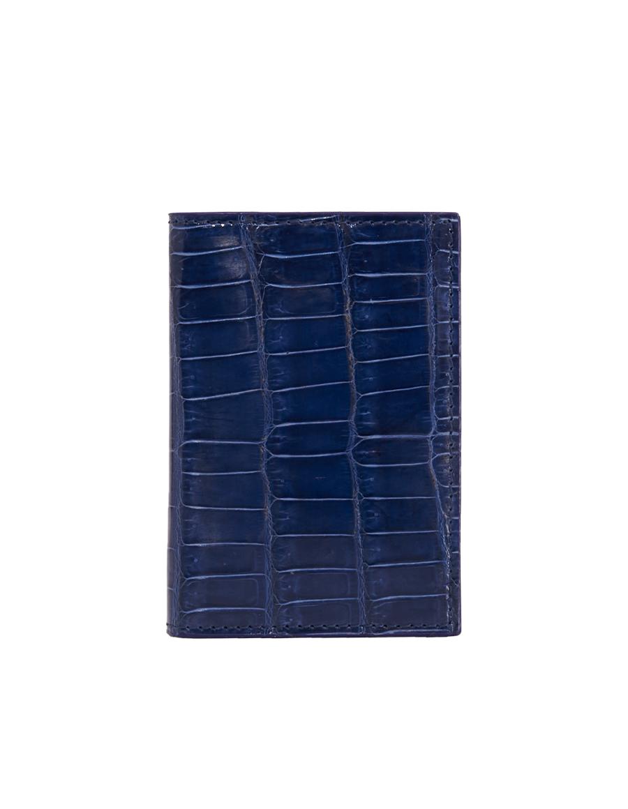 Sailer Blue Crocodile Bi-Fold Holder