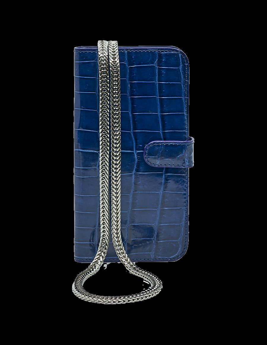 Sailer Blue Crocodile iPhone 12 Pro Max Crossbody case