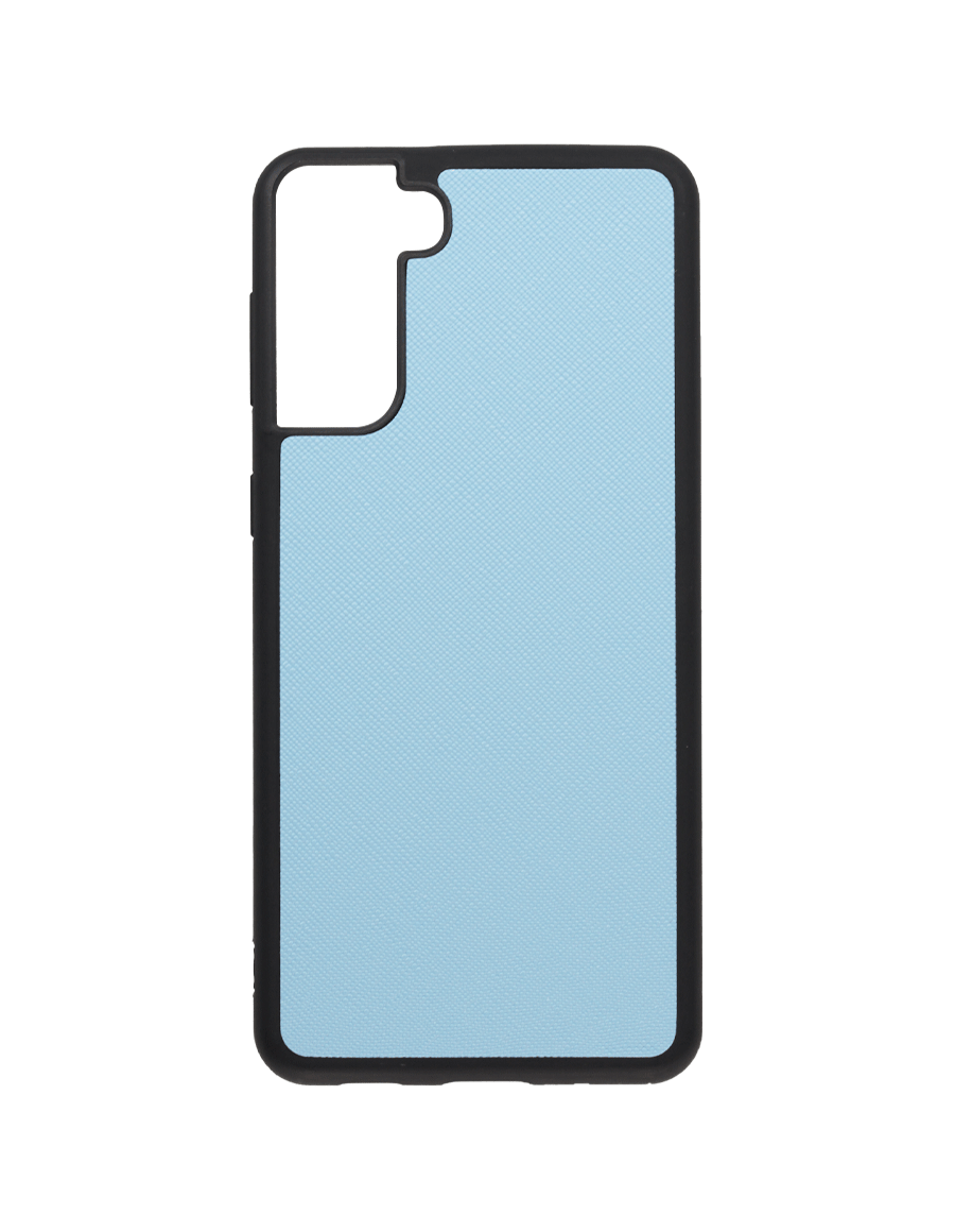 Frost Blue Saffiano Vegan Samsung S21 Plus Case