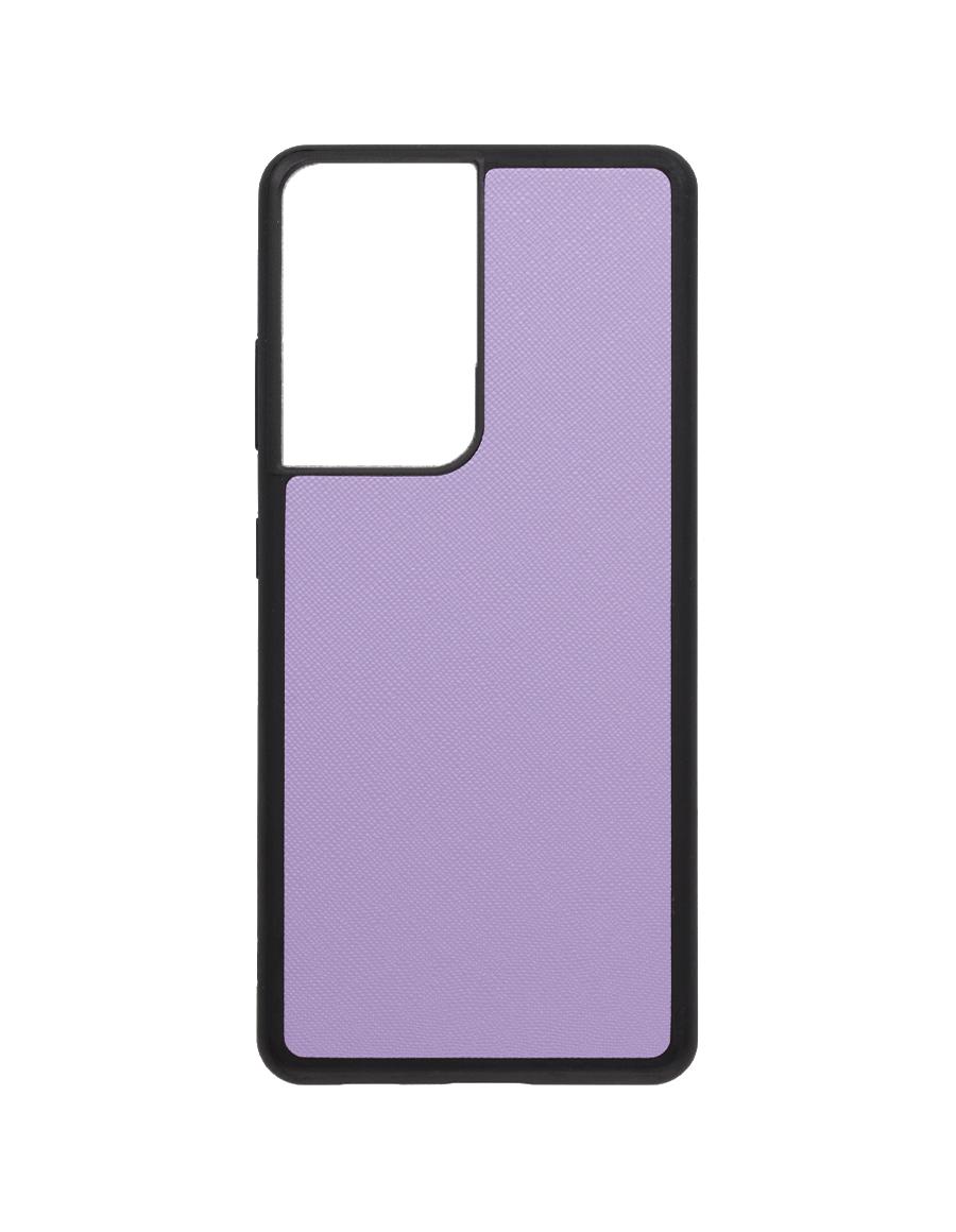 Lilac Saffiano Vegan Samsung S21 Ultra Case