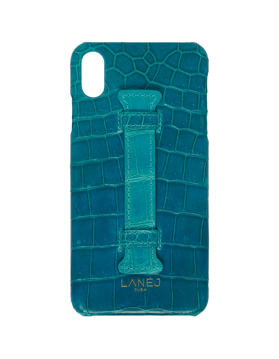 SCUBA BLUE CROC IPHONE XS MAX WITH HOLDER