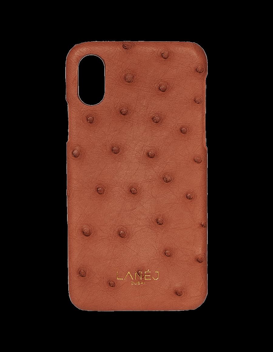Copper Tan Ostrich Iphone XS Max
