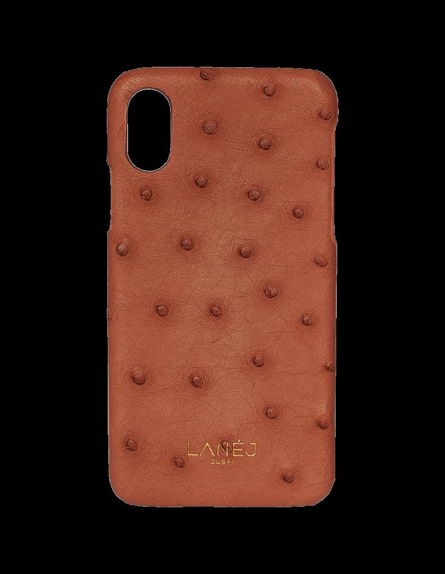 Copper Tan Ostrich Iphone X/XS