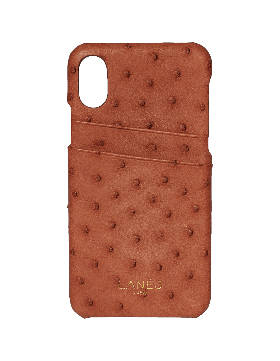 Copper Tan Ostrich Iphone X/XS With Card Slots