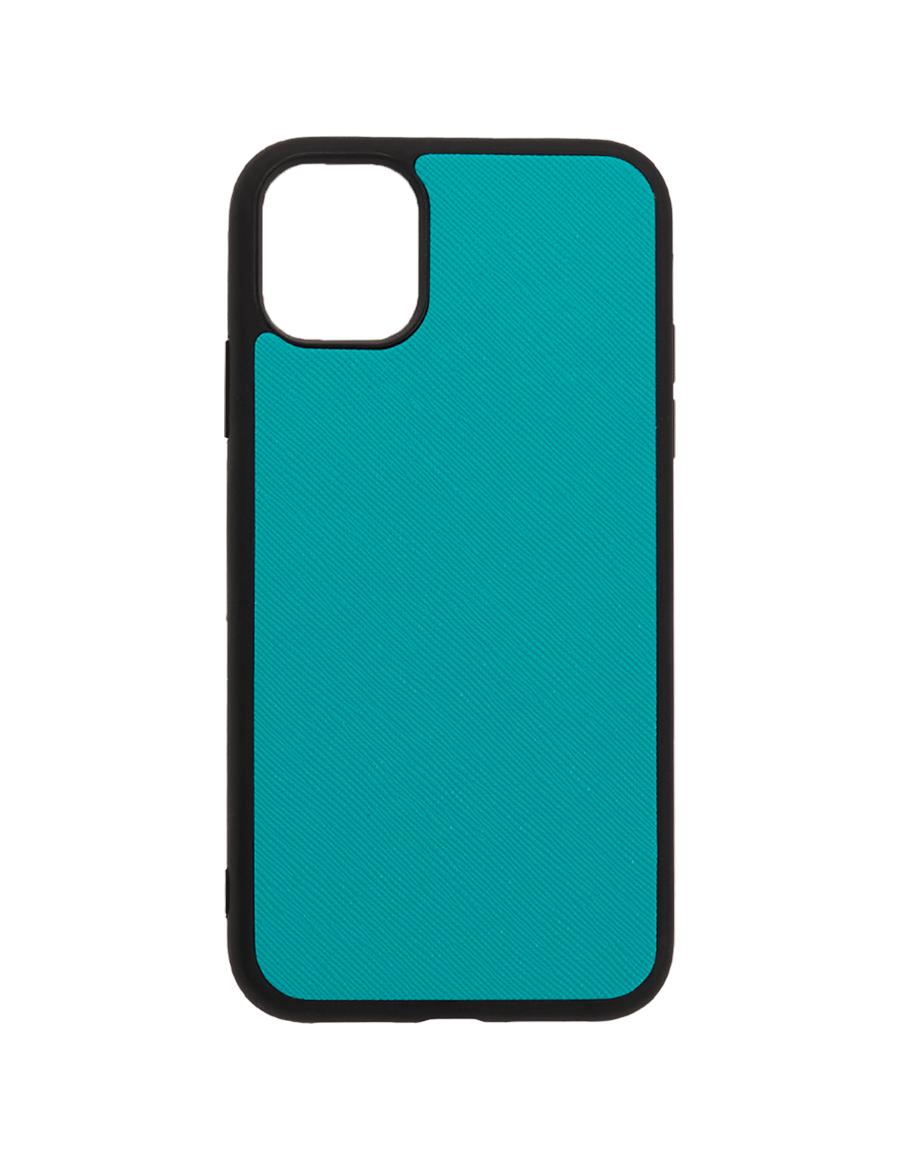 Teal Saffiano Vegan iPhone 11 Case