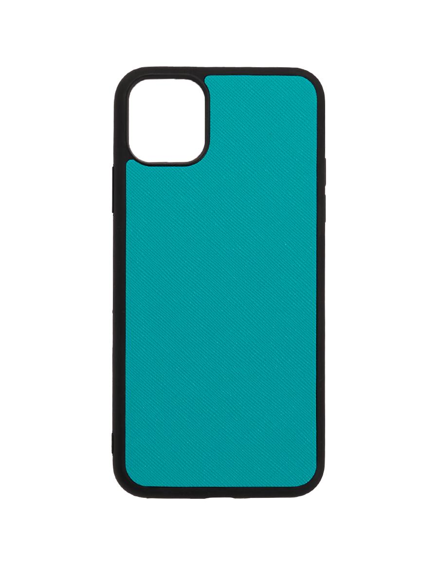Teal Saffiano Vegan iPhone 11 Pro Max Case