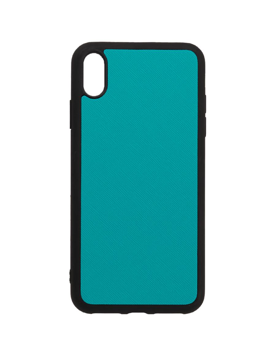 Teal Saffiano Vegan Iphone XS Max Case