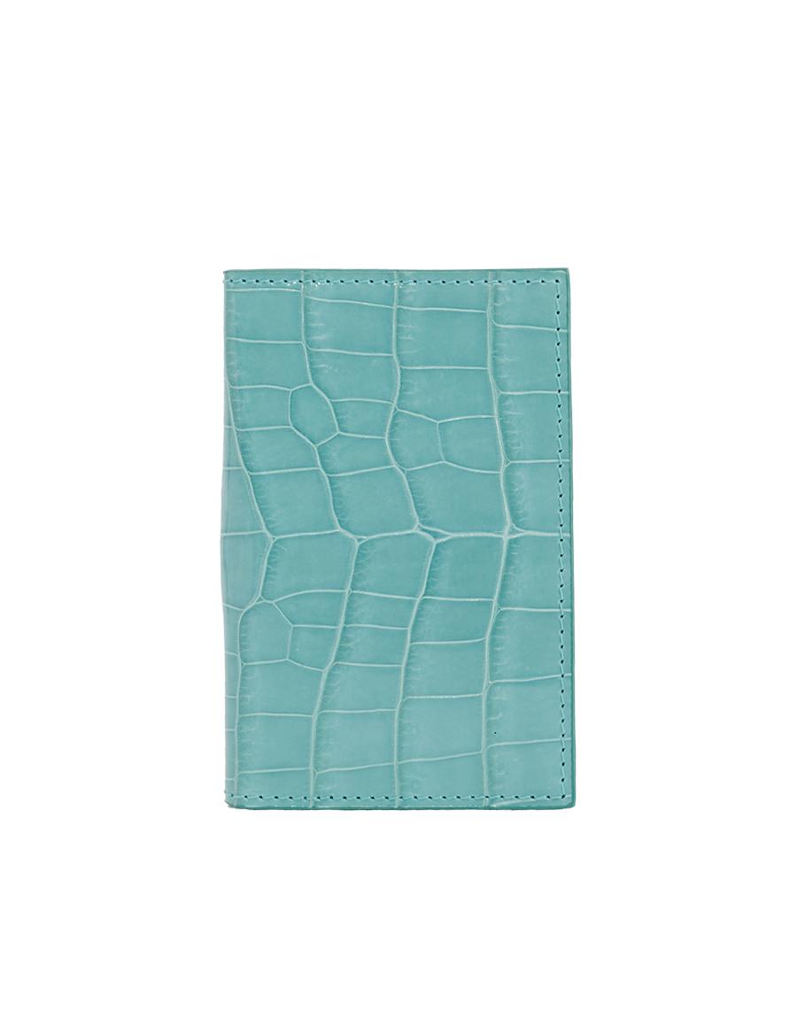 Tiffany Blue Crocodile Bi-Fold Holder